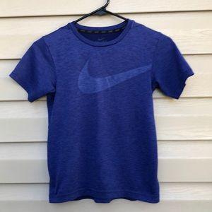 Nike boy's blue dri-fit short sleeve tee shirt